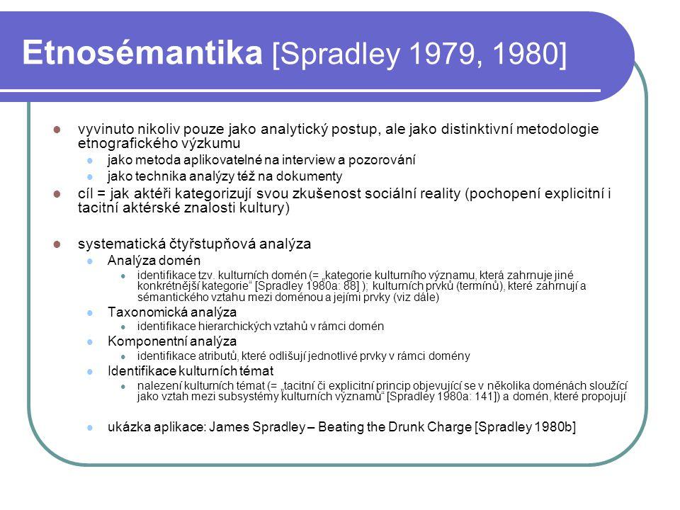 Etnosémantika [Spradley 1979, 1980]